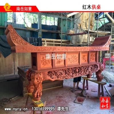 湘西木雕佛像、红木供桌寺庙佛龛、湖南木雕佛像厂家